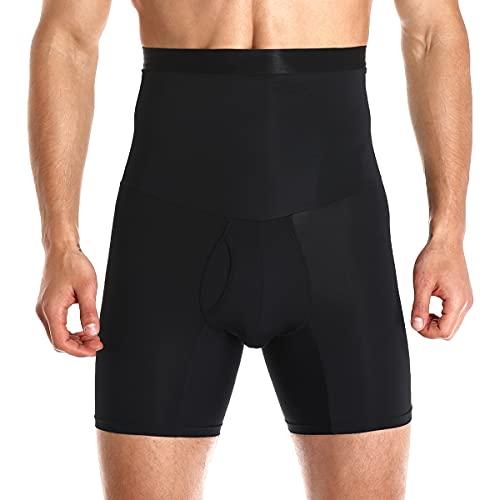 Vevarble Herren Boxershorts Hohe Taille Bauch Kontrolle Figurformende Unterwäsche Unterhose Sports Kompression Retroshorts Slimming Shapewear B/XL