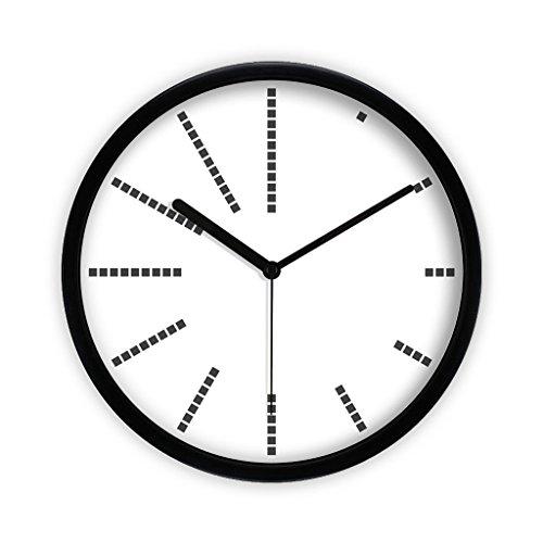 Clock Rond Horloge Murale, Salon Chambre Mode Horloge Murale Moderne Minimaliste Muet Grande Horloge Horloge À Quartz Montre Suspendus Table Art Silencieux Horloge Motif Géométrique