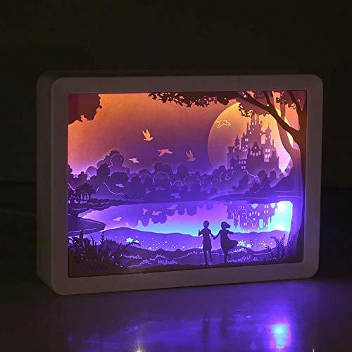 Baiyi Decoratieve nachtlampje en schaduw papier gesneden lichten handgemaakte nachtverlichting creatieve led-tafellamp kunst en kunsthandwerk 3D-papier sculptuur lamp