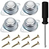 Greluma 4 Piezas Unidad de Cojinete de Transferencia de Bolas de Nailon con dos Orificios de 16 mm (5/8