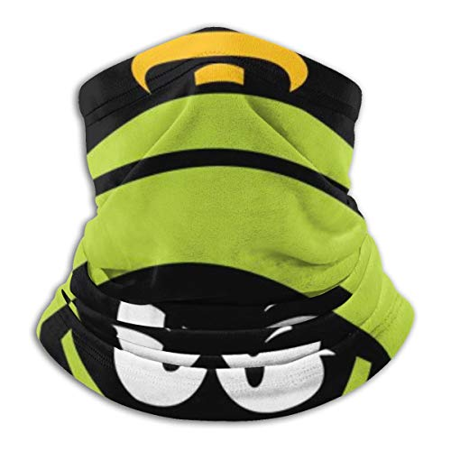 Marvin The Martian Fleece Neck Warmer Neck Gaiter Warmer Windproof Mouth Face Mask Magic Scarf Bandana Balaclava Black