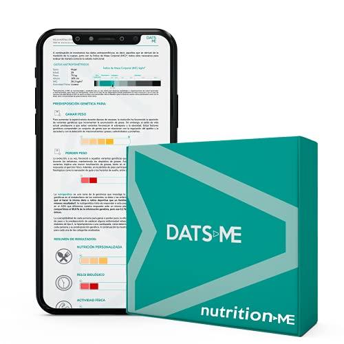 DatsMe - Nutritionme, test genetico di nutrizione personalizzata, con kit DNA incluso, colore: bianco
