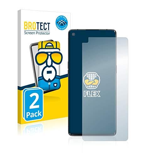 BROTECT Full-Cover Schutzfolie kompatibel mit Oppo Find X2 Neo (2 Stück) - Full-Screen Bildschirmschutz-Folie, 3D Curved, Kristall-Klar