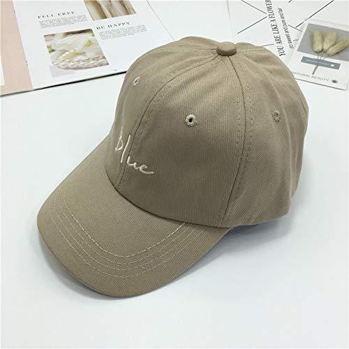 Buchstabe Stickerei Softtop Baseball Cap Wilde einfache geschwungene Hut männlich und weiblich Travel Cap Sonnenhut beige einstellbar