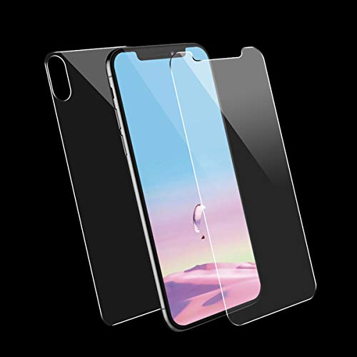 Conleke Front Back Screen Protector for iPhone Xs Max, Tempered Glass [3D Touch] Front Rear Anti-Fingerprint/Scratch Compatible with iPhoneXs Max (Thin) (Front & Back,6.5inch)