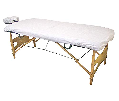 Lifesoft Disposable Fitted Massage Table Sheet Heavy Duty Facial Bed Cover, 10 Count