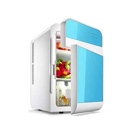 DLYDSS Tragbare Gefriertruhe Auto Kühlschrank, Auto nach Hause Dual-Core-Dual-Open 20L Kühlschrank (Color : Ocean Blue)