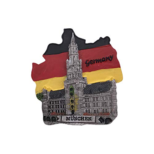 Munich Germany 3D Refrigerator Magnet Tourist Souvenirs Resin Magnetic Stickers Fridge Magnet Home & Kitchen Decoration from China