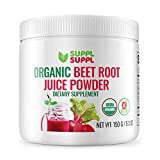 USA Grown Organic Beet Root Juice Powder - Natural Superfood for Energy & Immune System Support, Organic & Kosher Certified, Grown & Harvested in The USA