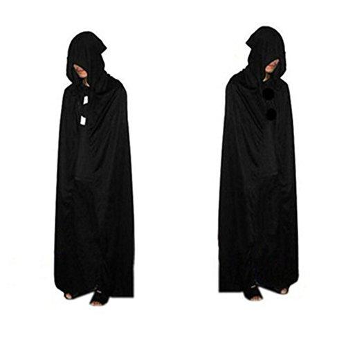 Morbuy Cape à Capuchon Longue Velvet Adulte Unisexe Déguisement Costume Halloween