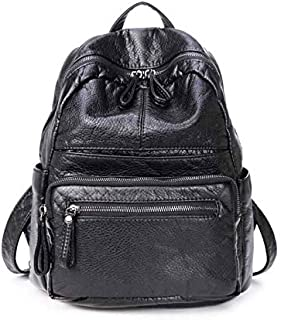 Leather bag For Women and girl, Black - Fashion BackPack