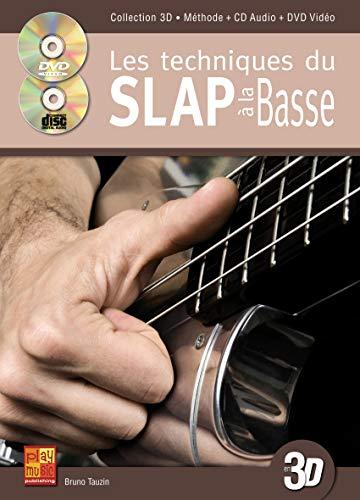 Tauzin Bruno Slap Et Effets A La Basse En 3D Bass Guitar Bk/Cd/Dvd Fre
