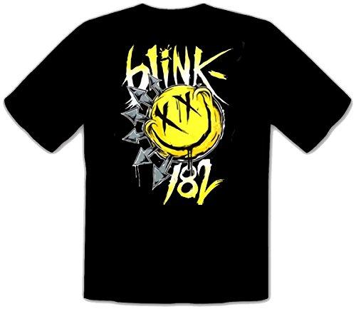 Blink 182 - BIG SMILE Punk Rules Rock schwarze Fun Music T-Shirt -086 (L)