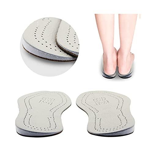 WDSFT Einlegesohlen für Schuhe Sohle Deodorant 2 Paare Leder orthopädische Einlagen Seitliche Ferse Keile Silikonschuheinsätze, Fersenschuhkissen für Pronation Supination O/X Beinbügelbeine
