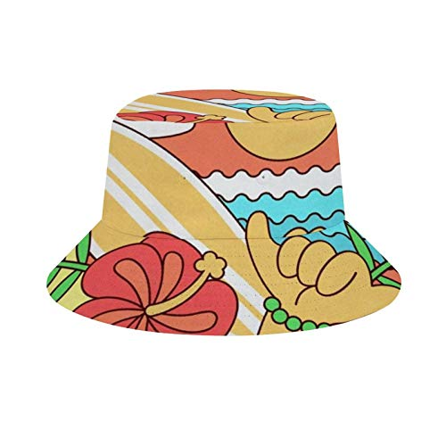 HARORU Mens Womens Bucket Hat, Reversible Beach Hat,Washable Cotton Printed Foldable Soft Flat Caps for Outdoor Travel (Cute Skate Shine)