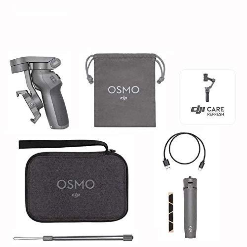 DJI Osmo Mobile 3 Prime Combo - Kit Stabilizzatore Gimbal a 3 Assi con Care Refresh, Compatibile con iPhone e Android Smartphone, Design Portatile, Scatto Stabile, Controllo Intelligente con Treppiede