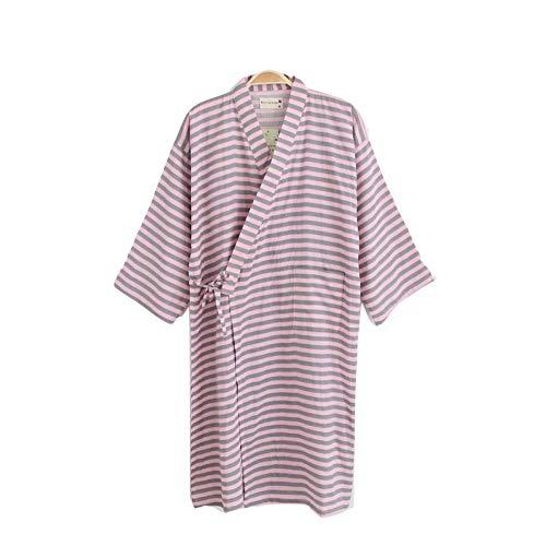TaoRan Kimono Badjas voor dames, voor lente en herfst, katoen, dubbelgaas, kimono, badpak, stoomende kleding pyjama badjas