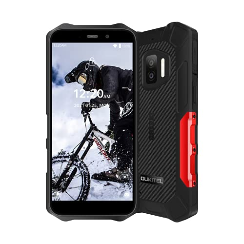 Rugged Smartphone OUKITEL WP12 (2021), Android 11 Dual SIM cellulare rugged, IP68 cellulare impermeabile, Display 5,5 pollici 4000mAh Cellulari NFC, Rosso