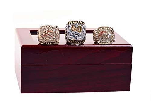 Set of 3 Denve' Broncos Championship Ring by Display Box Set (with box)