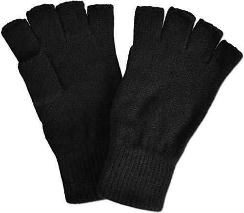 normani Fingerlose Halbfinger - Handschuhe ohne Finger in Schwarz Farbe Schwarz Größe S