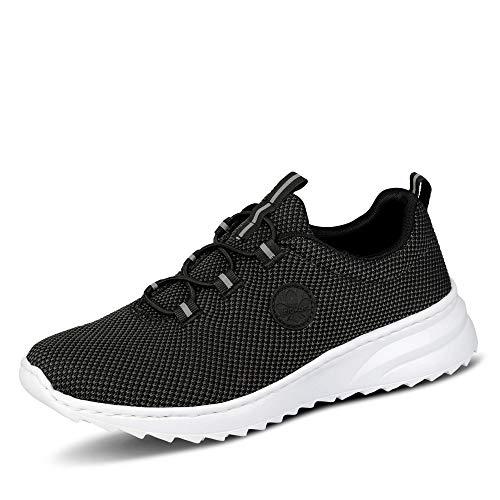 Rieker Damen Sneaker N60K4, Frauen Low-Top Sneaker,keil,keil-Absatz,weiblich,Lady,Ladies,Women's,Halbschuh,schnürschuh,schwarz (00),38 EU / 5 EU
