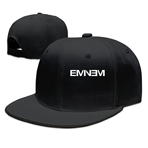 Hittings Men's Eminem Rap Style Flat Baseball Caps Black
