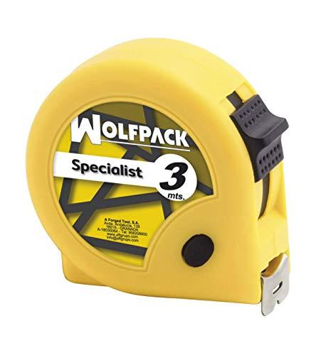 Wolfpack 2300505 Flexometro Speciallist con Freno 3 Metros / 13 mm.