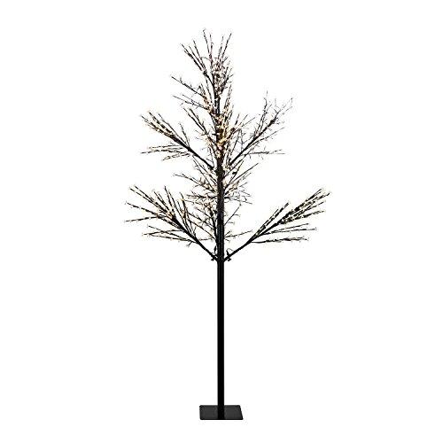 Blumfeldt Hanami WW 300 - Albero di Luci Decorazione Fiori di Ciliegio, 1080 LED, Altezza 300cm, adatto per interni ed esterni, Cavo 10 metri, Adatto ad interni ed esterni luce bianca calda