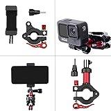 iEago RC Abrazadera para tija de sillín de bicicleta de aleación de aluminio + soporte universal ajustable para teléfono móvil para DJI Osmo Action/Osmo Pocket/Serie Insta360/Fimi Palm/GoPro.