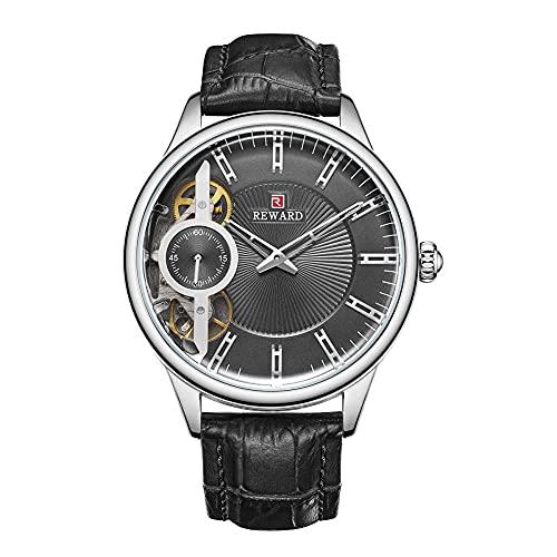 Reloj Digital para Hombre Reloj Deportivo Informal Reloj con Esfera de Acero Inoxidable -A