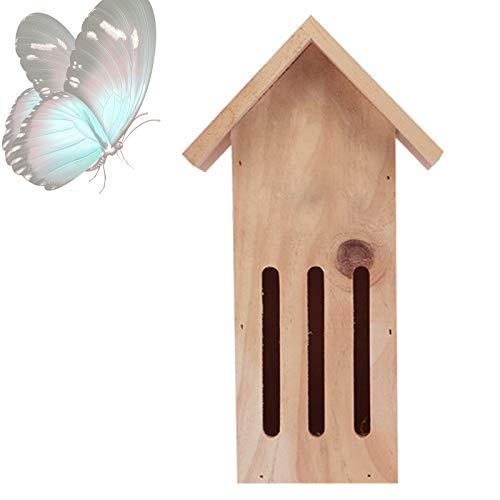 YJ-ZZY Holz Schmetterlingshaus Sicheres Holz Schmetterlingshaus Mit Wasserdichter Für Schmetterlingen Einen Sicheren Zufluchtsort Bieten