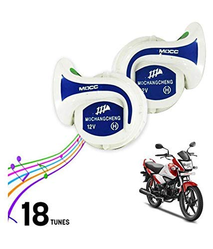 SELLCOM Mocc Universal Horn 18 in 1 Digital Tone (Set of 2) for All Bikes and Cars