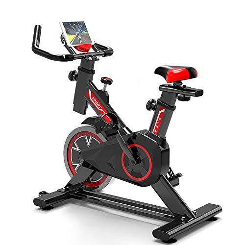WuoooLi Bicicleta de Spinning, Asiento Ajustable,con Pantalla LCD,Equipo de Entrenamiento de Entrenamiento...