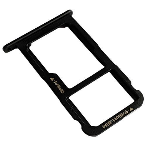 Huawei P8 Lite Dual SIM (2017) Bandeja Tarjeta SIM y Soporte Micro-SD, Repuesto Original, Negro