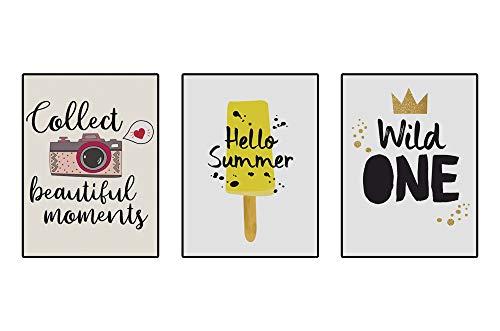 4Good babykamer schilderijen decoratie modern Nordic wandschilderijen kinderkamer jongens meisjes foto's set Wild One