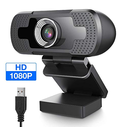 EIVOTOR Full HD Webcam 1080P Computer Kamera mit Mikrofon USB PC Webcam Laptop Streaming Kamera Bussiness Webcam für Konferenz, Zoom, Skype, Google Hangouts, YouTube, Windows, Mac OS, Linux, Android