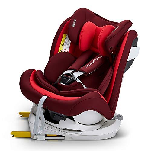 WWLONG Cómodo Asiento para automóvil para niños/niños, Interfaz IsOfix Asiento Elevador para niños, cinturón de Seguridad para niños, cinturón de Seguridad para niños con arnés-Red
