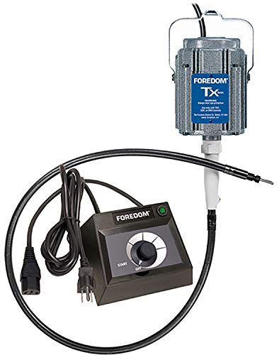 Foredom M.TX-EMX M.TX Hang-Up Permanent Magnet Motor with EMX Plastic Table Top Dial Speed Control, 115v