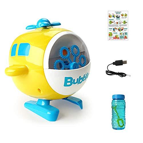 pegtopone Máquina de burbujas de jabón, máquina de burbujas de alto rendimiento, para interior y exterior, juguete de jardín automático recargable, para niños