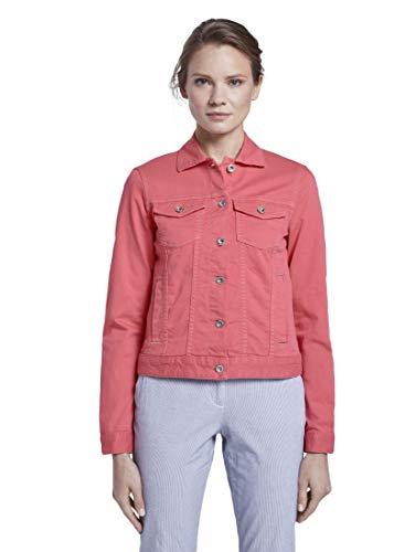 TOM TAILOR Damen Color Denim Jacke, Charming Pink, XS EU