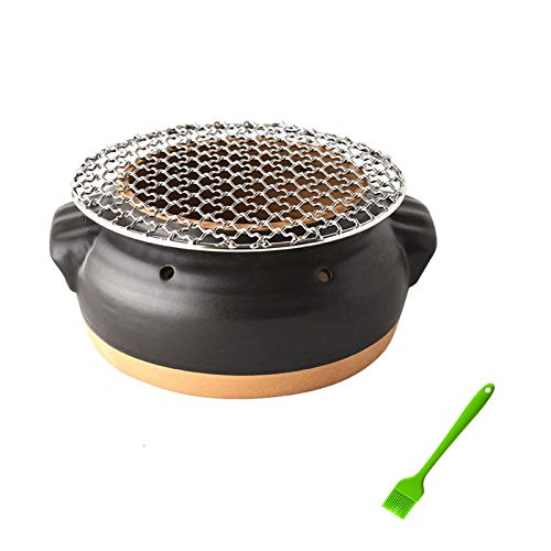 DXYSS Outdoor Tragbarer Grill BBQ Ofen Haushalt Holzkohle Barbecue Grill Kleine Indoor Outdoor Herd Backen Netto Koreaner Tragbare Holzkohle Clay Grill
