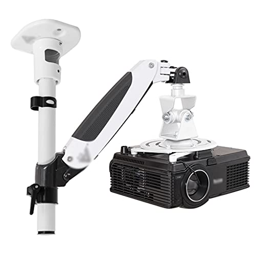 Soporte de proyector Soporte de la suspensión del proyector Se puede girar el soporte de montaje del proyector de pared de pared 360 grados La carga máxima es de 14.33 libras Para el sistema de vigila