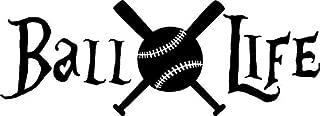Chase Grace Studio Ball Life Baseball Sports Vinyl Decal Sticker|White|Cars Trucks Vans SUV Bumper Laptop Wall Art|6