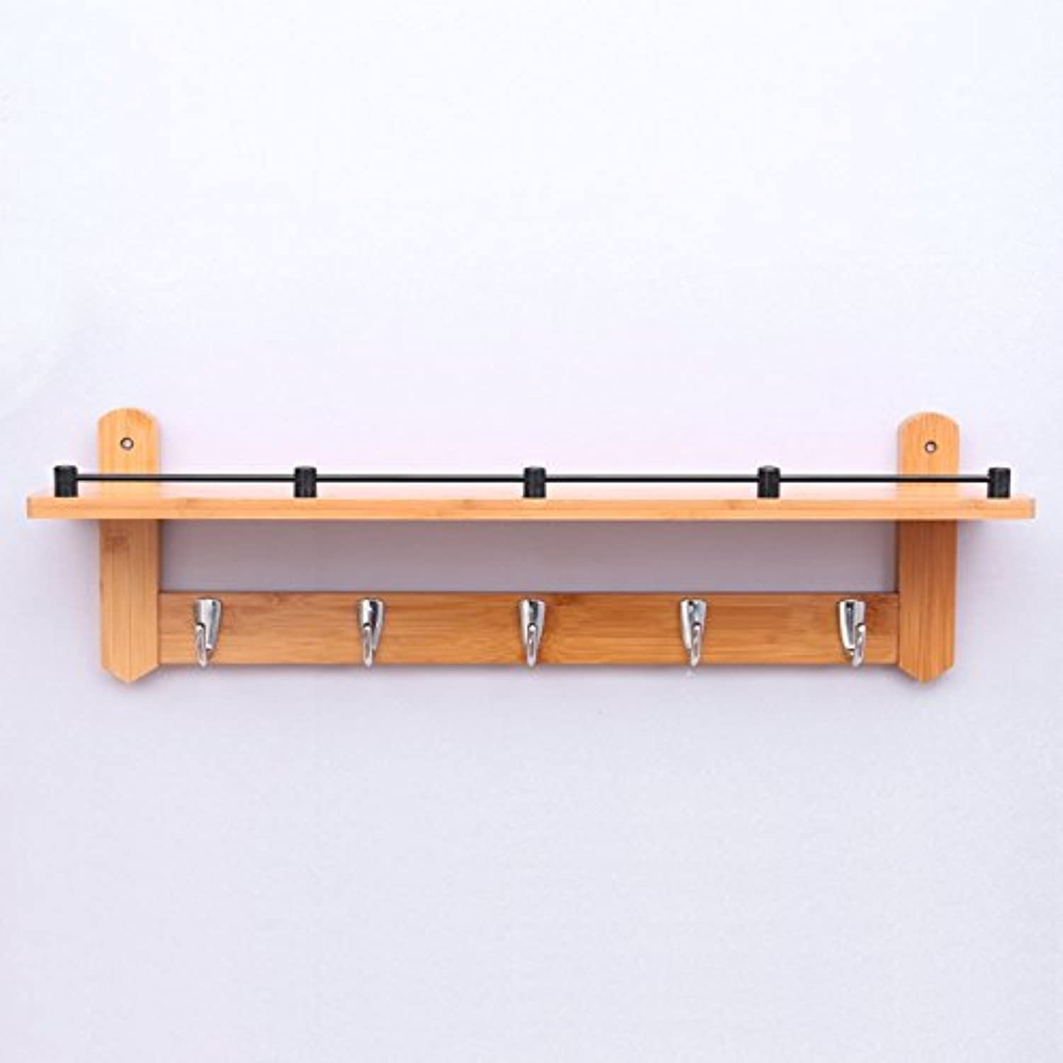 Wall Mounted Coat Rack, Wall-Hung Coat Hooks,Bedroom Living Room Entrance Simple Modern Bamboo System Wall-Mounted Coat Racks. (Size   66  20  12cm)
