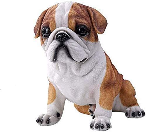 aipipl Adornos de jardn Bulldog al Aire Libre Decoracin de Bulldog Resina para el hogar Coleccin de Figuras pintadas a Mano Regalo de Ing Hecho a Mano
