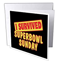 Dooni Designs Survive Sayings – I Survived Superbowl日曜日Survival Pride andユーモアデザイン – Greeting cards-1 Greeting Card with Envelope (GC 118275 _ 5 )