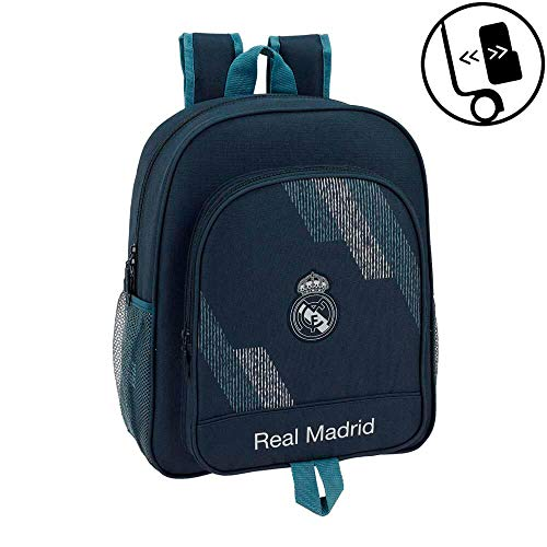 Safta Mochila Junior Adaptable A Carro Real Madrid, (611834640)