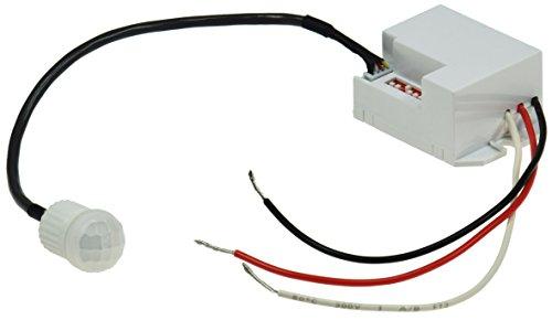 Mini Einbau-Bewegungsmelder 12V DC 5A I 1-60W I Für LED geeignet I 56x34x25mm I Einbau Sensor Weiß
