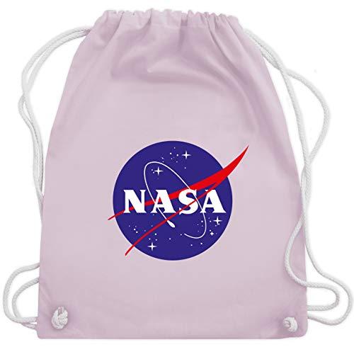 Shirtracer Statement - Nasa Meatball Logo - Unisize - Pastell Rosa - rucksäcke nasa - WM110 - Turnbeutel und Stoffbeutel aus Baumwolle