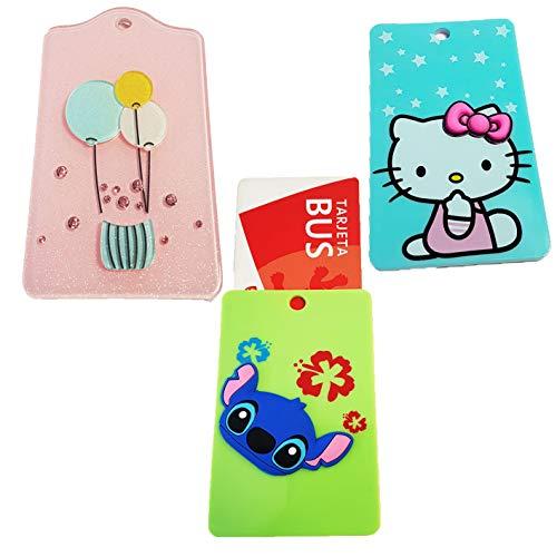 ZARAPOP - Llavero – Tarjeta – Bus – crédito – Club – Pack 3 Unidades. Incluye Stich, Hello Kitty, Globos.